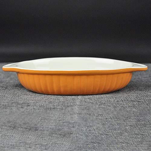 SUNXK Nórdicos oídos Plato de cerámica con Rayas Ensalada de Fruta ...