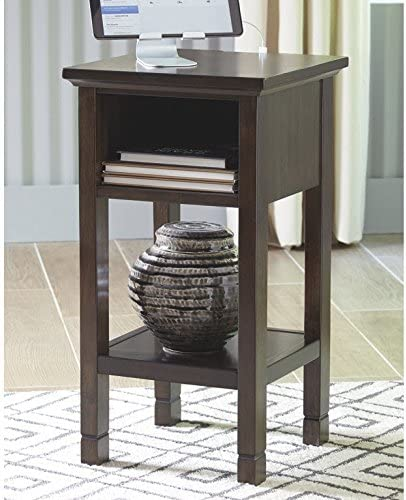 Signature Design by Ashley – Marnville Accent Table – With USB Hook-Up – Contemporary – Dark Brown