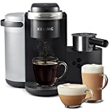 Coffee Machines for Sale Keurig K-Cafe Single-Serve K-Cup Coffee Maker, Latte Maker and Cappuccino Maker, Comes with Dishwasher Safe Milk Frother, Coffee Shot Capability, Compatible With all Keurig K-Cup Pods, Dark Charcoal