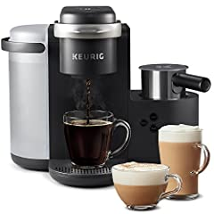 Enjoy the rich, full-flavored coffee you love or delicious coffeehouse beverages from the new Keurig K-Café single serve coffee, latte, and cappuccino maker. Whether brewing coffee, or making lattes, and cappuccinos, the K-Café brewer works w...