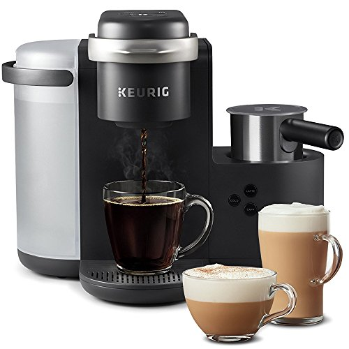 Keurig K-Cafe Single-Serve K-Cup Coffee Maker, Latte Maker and Cappuccino Maker, Comes with Dishwasher Safe Milk Frother, Coffee Shot Capability, Compatible With all Keurig K-Cup Pods, Dark Charcoal (Charcoal Machine)