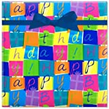 Birthday Boxes Jumbo Rolled Gift Wrap - 67 sq. ft. Heavyweight, Tear-