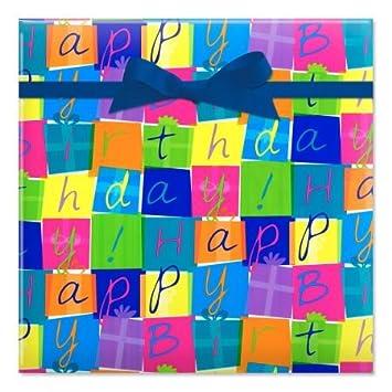 Amazon.com: Cajas de cumpleaños Jumbo enrollado regalo – 67 ...
