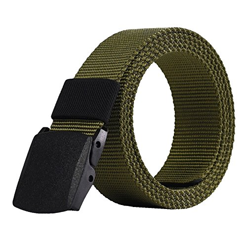 Adjustable Nylon Canvas Breathable Military Tactical Men Waist Belt With High strength Plastic Buckle