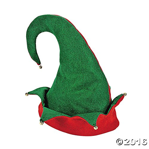 Set of 6 Felt ELF HATS with JINGLE Bells/Great for SANTA'S HELPERS/OFFICE PARTY/Photo OP/HOLIDAY & CHRISTMAS/Adult (Christmas Elf Pictures)
