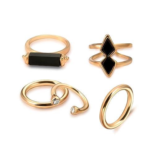 lubier Ring Retro Mode, Gelenk Ring-Set ES IST geeignet für alle ...