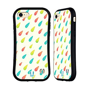 Head Case Designs Brushed Droplet Patterns Hybrid Case for Apple iPhone 6 / 6s