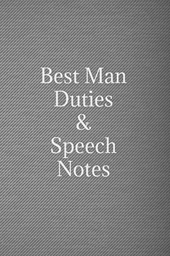 Best man duties & speech notes: Black & silver wedding lined notebook jotter