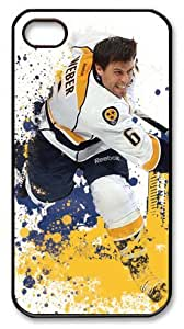 icasepersonalized Personalized Protective Case for iPhone 4/4S - NHL Nashville Predators #6 Shea Weber