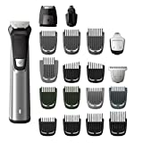 philips multigroom series 7000 cordless wet & dry with 23 pieces (19 trimming accessories), dualcut