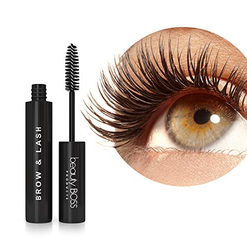 Eyelash Growth Serum - Natural Lash Boost and Brow Regrowth Rejuvenator - Enhancing Formula for Longer, Thicker Eyelashes and Fuller Eyebrows (Best Mascara With Latisse)