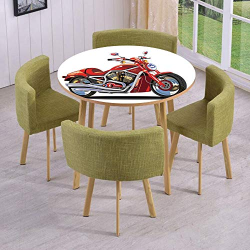 Engine Freedom (iPrint Round Table/Wall/Floor Decal Strikers/Removable/Super Sexy Motorbike with Vivid Color Properties Winged Engine Machine Freedom/for Living Room/Kitchens/Office Decoration)