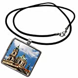 3dRose Danita Delimont - Churches - Czech Republic, Prague. Rooftops and St. Nicholas Cathedral. - Necklace With Pendant