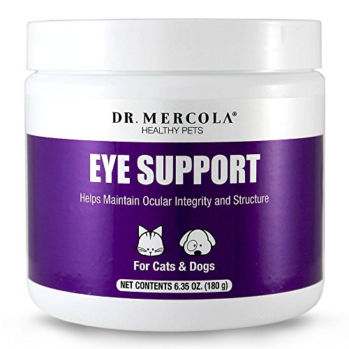 Dr. Mercola Eye Support For Pets - 180 Grams - Helps Maintain Ocular Integrity and Structure - Natural Liver-Flavor Powder