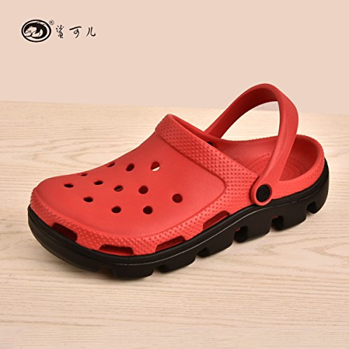 Casual Lovers Scarpe 43 Sandali Yellow 44 Red Sandali Sports Pantofole Da Hole Spiaggia Sandali Diate New Summer IwqRpxTSw