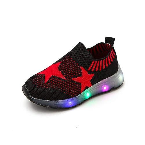 Zapatos de Bebe,❤ Amlaiworld Zapatos Deportivos Luminosos Niñas Niños Bebé Luz LED Estrella Zapatos Casaul De Malla Estudiantes Zapatillas Deportivas: ...