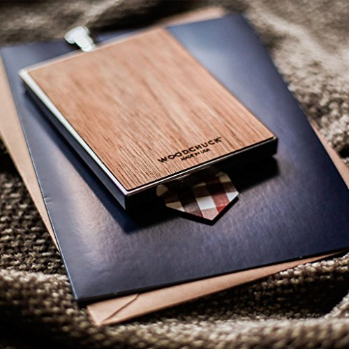 WOODCHUCK USA Wooden 3 oz Flask in Cedar - 100% Premium Wood