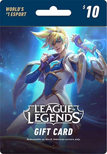 League of Legends $10 Gift Card - 1380 Riot Points - NA Server Only [Online Game - Icon Point
