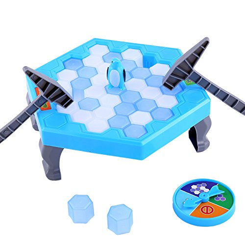 Weka Puzzle Table Games Penguin Knock Trap Board Game Ice Breaking Save Kids Early Educational Block Toy Interactive Desktop Party Toys by Weka