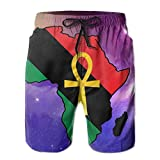 Ankh African Colored Africa Men's Summer Casual ShortsM