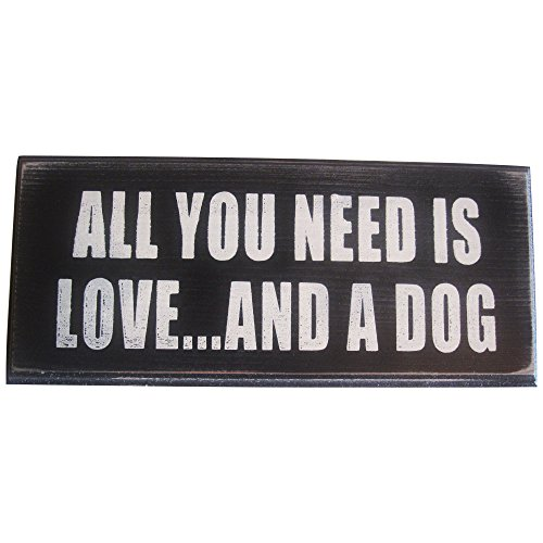 Custom Cedar Dog House - All You Need Is Love And a Dog Vintage Wood Sign for Wall Decor, Gift or Photo Prop -- PERFECT HOUSEWARMING GIFT FOR DOG LOVERS!