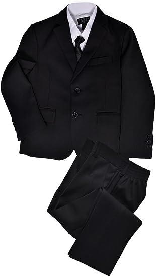 Little Gents 5 Piece Boys 2 Button Dress Suit with Shirt and Tie Vest