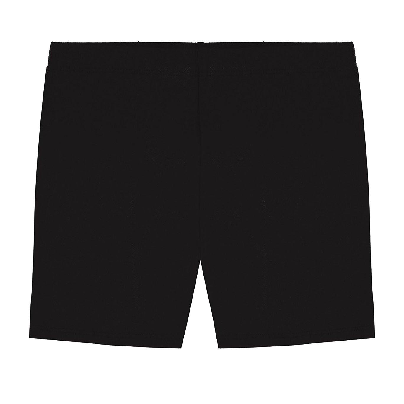 Hollywood Star Fashion Khanomak Kids Girls Biker Shorts (Size 12, Black)