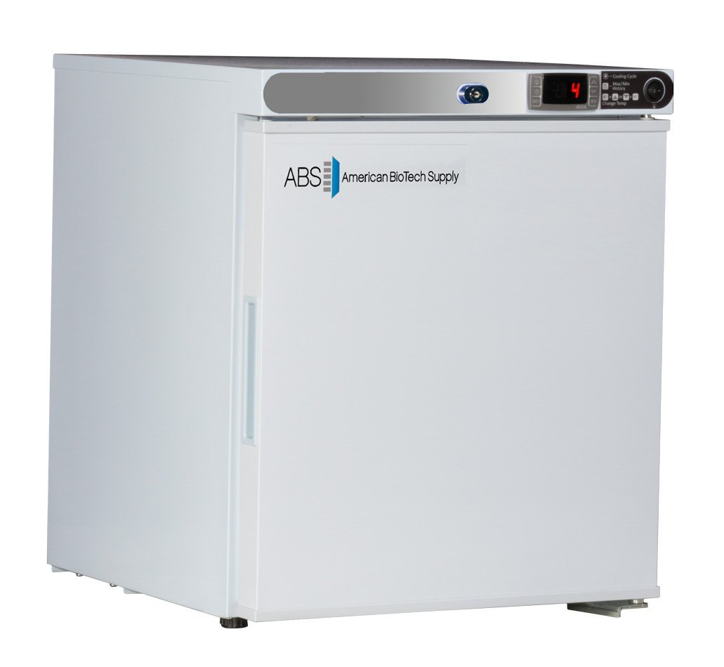 American BioTech Supply ABT-HC-UCFS-0104 Premier Undercounter Refrigerator, Freestanding, 1 cu. ft. Capacity, White by American BioTech Supply