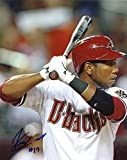 ALFREDO MARTE AT BAT ARIZONA DIAMONDBACKS SIGNED 8X10 PHOTO