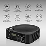 Hangsun White Noise Machine Generator S1 Portable Sleep Sound Machine with 10 Natural Sounds + 5 Auto Timer Setting Sound Therapy Spa for Baby, Adult Office Relax and Well Sleeping