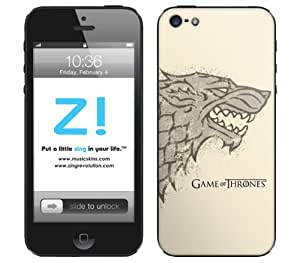 Zing Revolution Game of Thrones Premium Vinyl Adhesive Skin for iPhone 5, Stark S2 Image (MS-GOT130318)