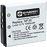 SDFNP50 Lithium Battery - Rechargeable Ultra High Capacity (3.7 volt - 1000 mAh) Replacement for Fuji NP-50 Battery For Fujifilm FinePix F100fd, F300EXR, F50fd F500EXR, F600EXR, F60fd, F660EXR, F750EXR, F770EXR, F800EXR, F80EXR, F850EXR, F85EXR, F900EXR