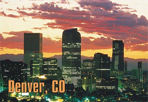 Denver, Colorado, Skyline, City, Souvenir Magnet 2 x 3 Fridge - Denver Airport Stores In
