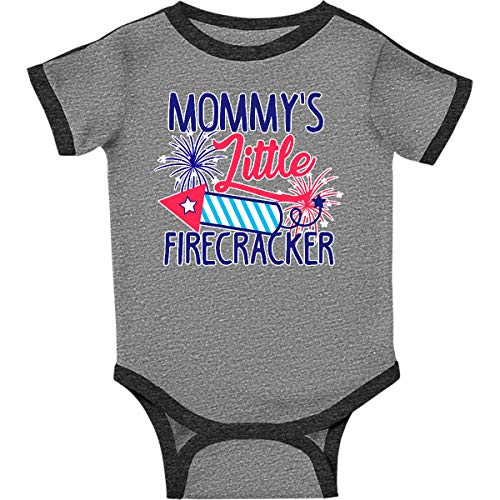 inktastic - Mommys Little Infant Creeper 6 Months Ringer Heather and Smoke 29ad6