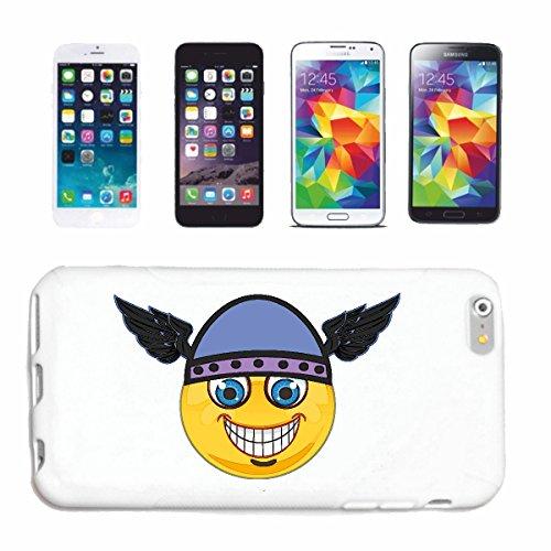 """cas de téléphone iPhone 6+ Plus """"MERRY SMILEY AVEC VIKING HAT """"SMILEYS SMILIES ANDROID IPHONE EMOTICONS IOS sa sourire EMOTICON APP"""" Hard Case Cover Téléphone Covers Smart Cover pour Apple iPhone en b"""