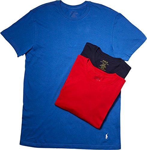 Polo Ralph Lauren  Men's 3 Classic Crews Racer Blue/Chic Cream Pony Player/Red/Cruise Navy Pony Player/Cr Underwear