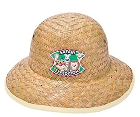 f9cffbaaf3 Amazon.com  Rhode Island Novelty 12 Childrens Straw Safari Pith Hats ...