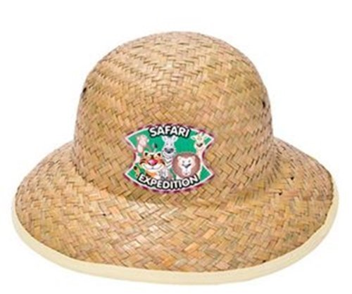 Rhode Island Novelty 12 Childrens Straw Safari Pith