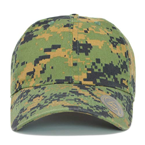 - Custom Hat, Embroidered Classic Polo Style Baseball Cap, All Cotton Made Adjustable Fit Men Women Low Profile Dad Cap Hat (Digital Camo)