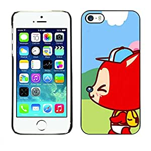 Exotic-Star ( Cute Happy Fox Kid ) Fundas Cover Cubre Hard Case Cover para Apple iPhone 5 / 5S