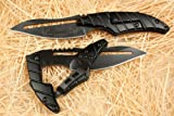 Alien Transformers Tactical Liner Lock Pocket Folding Knife Survival Hunting Fishing Camping Hiking, Black, Come with Sheath