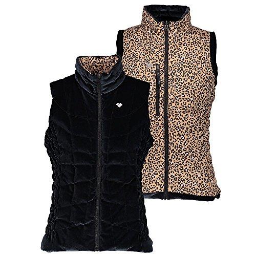 Obermeyer Women's Soleil II Reversible Down Vest Safari Leopard X-Large