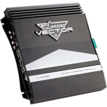 2-Channel High Power MOSFET Amplifier - Slim 1000 Watt Bridgeable Mono Stereo 2 Channel Car Audio Amplifier w/ Crossover Frequency and Bass Boost Control, RCA input and Line Output - Lanzar VCT2110
