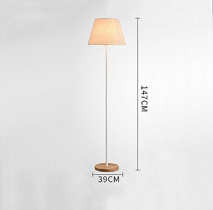 ZHDC® Lámpara de pie coreana, decoración de madera del ...