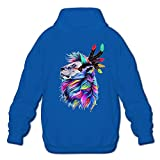 Men's Hooded Sweatshirts Soft Colorful India Africa Lion Cotton Hooded Pullover Hooded Sweatshirts