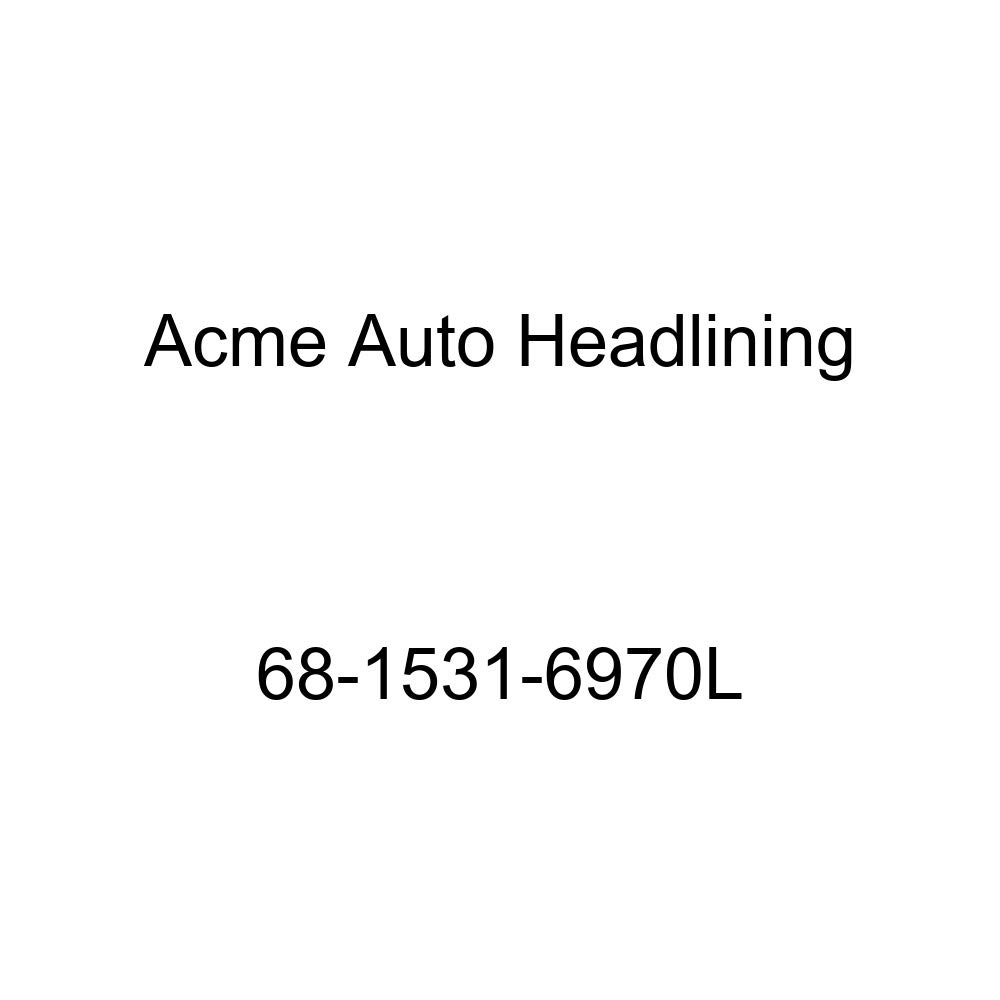 Acme Auto Headlining 68-1531-6970L Dark Blue Replacement Headliner Pontiac Lemans 4 Door Hardtop 6 Bow