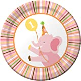 8-Count Round Paper Dessert Plates, Sweet at One Girls