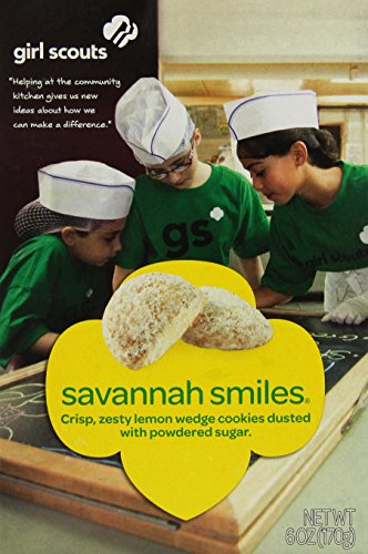 (Girl Scout Cookies * Savannah Smiles * Crunchy Lemon Cookies Dusted In Powder Sugar - 1 Box of 28 Cookies)