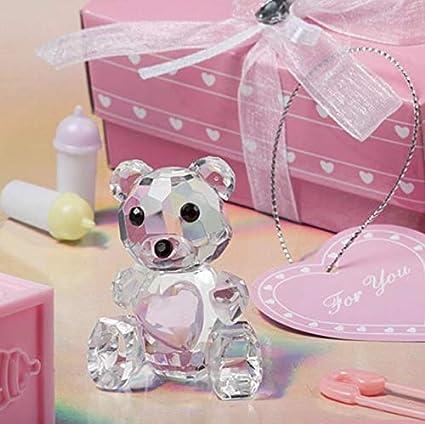 Amazon.com: Oso de peluche de cristal en caja de regalo rosa ...