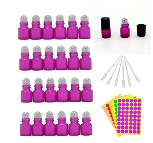 1-ml-1-4-dram-rose-red-glass-roll-on-bottles-vials-for-essential-oil-come-with-blank-lables-plastic-